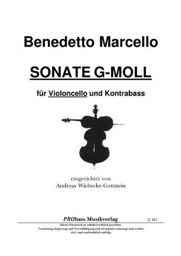 "Benedetto Marcello: ""Sonate G-Moll"" als pdf"